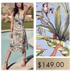 NWT! Ann Taylor jungle print toga dress